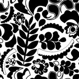 Seamless pattern with flower. various flower and leaves.  Royalty Free Stock Photos
