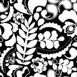 Seamless pattern with flower. various flower and leaves.  Stock Image