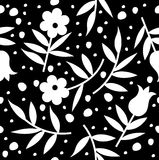 Seamless pattern with flower Stock Photo