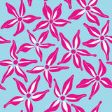 Seamless pattern with flower Stock Images