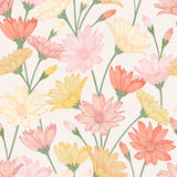 Seamless pattern with flower. Stock Photo