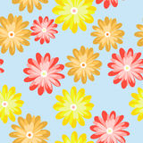 Seamless pattern with flowers Royalty Free Stock Photos