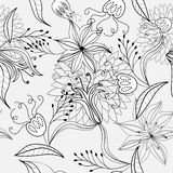 Seamless pattern with flowers. Universal template for greeting card, web page, background Royalty Free Stock Photography