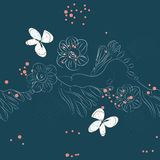 Seamless pattern with flowers royalty free stock photo