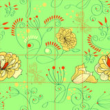 Seamless pattern with flowers. Universal template for greeting card, web page, background Stock Images
