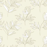 Seamless pattern with flowers. Universal template for greeting card, web page, background Stock Photo