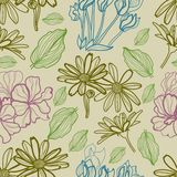 Seamless pattern with flowers Stock Image