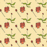 Seamless pattern - flowers Royalty Free Stock Image
