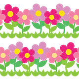 Seamless pattern of flowers Royalty Free Stock Photo