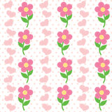 Seamless pattern of flowers Royalty Free Stock Image