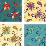 Seamless pattern: Flowers Stock Photo