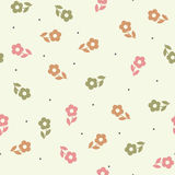 Seamless  pattern with flowers. Royalty Free Stock Photo