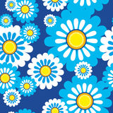 Seamless pattern flowers royalty free illustration