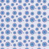 Seamless pattern with flowers. Seamless accurate pattern with floral design. Illustrations. For printing Royalty Free Stock Images