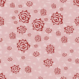 Seamless pattern flowers background. Stock Image