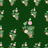 The seamless pattern.The flowers background is. Vector. Stock Photo