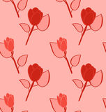 Seamless Pattern with Flowers, Background with Vintage Colors Royalty Free Stock Images