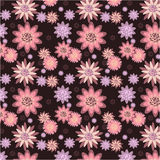 Seamless pattern of flowers. Stock Photos