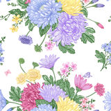 Seamless pattern with  flowers. Royalty Free Stock Images