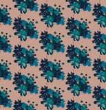 Seamless pattern with flowers-blots. Stock Photos