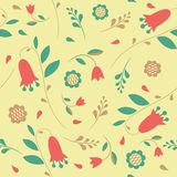 Seamless pattern with flowers bluebells Royalty Free Stock Photography