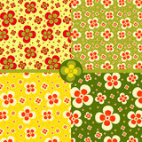 Seamless pattern with flowers. Bright, summer seamless pattern with flowers Royalty Free Stock Photography