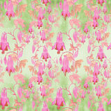 Seamless pattern. Flowers, buds and leaves - drawing by watercolor. Aquilegia.Watercolor background. Abstract wallpaper with flor Royalty Free Stock Image