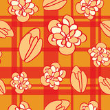 Seamless  pattern with flowers, buds. Stock Images