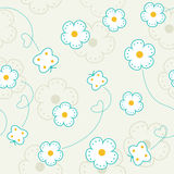 Seamless pattern with flowers and butterflies. Vector background Royalty Free Stock Photography