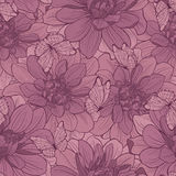 Seamless pattern with flowers and butterfly . Royalty Free Stock Image