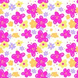 Seamless pattern flowers. Seamless Pattern with Carmine Flowers. Vector Illustration. Background for Card, Wallpaper, Web Page, Other Surfaces Texture Stock Images