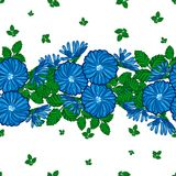 Seamless pattern of flowers Stock Photo