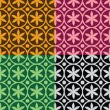 Seamless pattern with flowers and circles. Geometrical seamless pattern with flowers and circles stock illustration