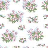 Seamless pattern with flowers. Decorative background with bunch of daisies royalty free illustration