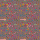 Seamless pattern of flowers of different colors. Vector fully editable background royalty free illustration