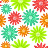 Seamless pattern with flowers, endless floral texture. Seamless Royalty Free Stock Photos