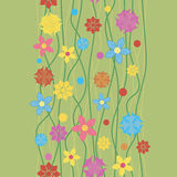 Seamless pattern flowers. Stock Photo