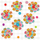 Seamless pattern with flowers with ethnic motifs Stock Photography
