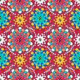 Seamless pattern with flowers in ethnic style Stock Images