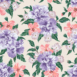 Seamless pattern with flowers. Stock Images