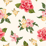 Seamless pattern with flowers. Royalty Free Stock Photos