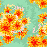 Seamless pattern with flowers. Fabric design. Wallpaper Stock Images