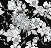 Seamless pattern with flowers. Floral background. Stock Image