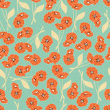 Seamless pattern with flowers and floral elements, nature life Royalty Free Stock Photos