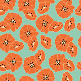 Seamless pattern with flowers and floral elements, nature life Stock Images