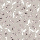 Seamless pattern with flowers and floral elements, nature life Stock Photography