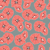 Seamless pattern with flowers and floral elements, nature life Royalty Free Stock Image