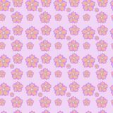 Seamless pattern with flowers. Seamless geometric pattern abstract with floral design Royalty Free Stock Photo