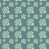 Seamless pattern with flowers. Seamless geometric pattern abstract with floral design Royalty Free Stock Photography