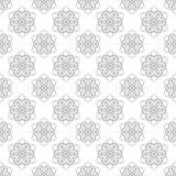Seamless pattern with flowers. Geometric abstract seamless texture with floral design.  Abstract  background  with  flower design. White Royalty Free Stock Photo